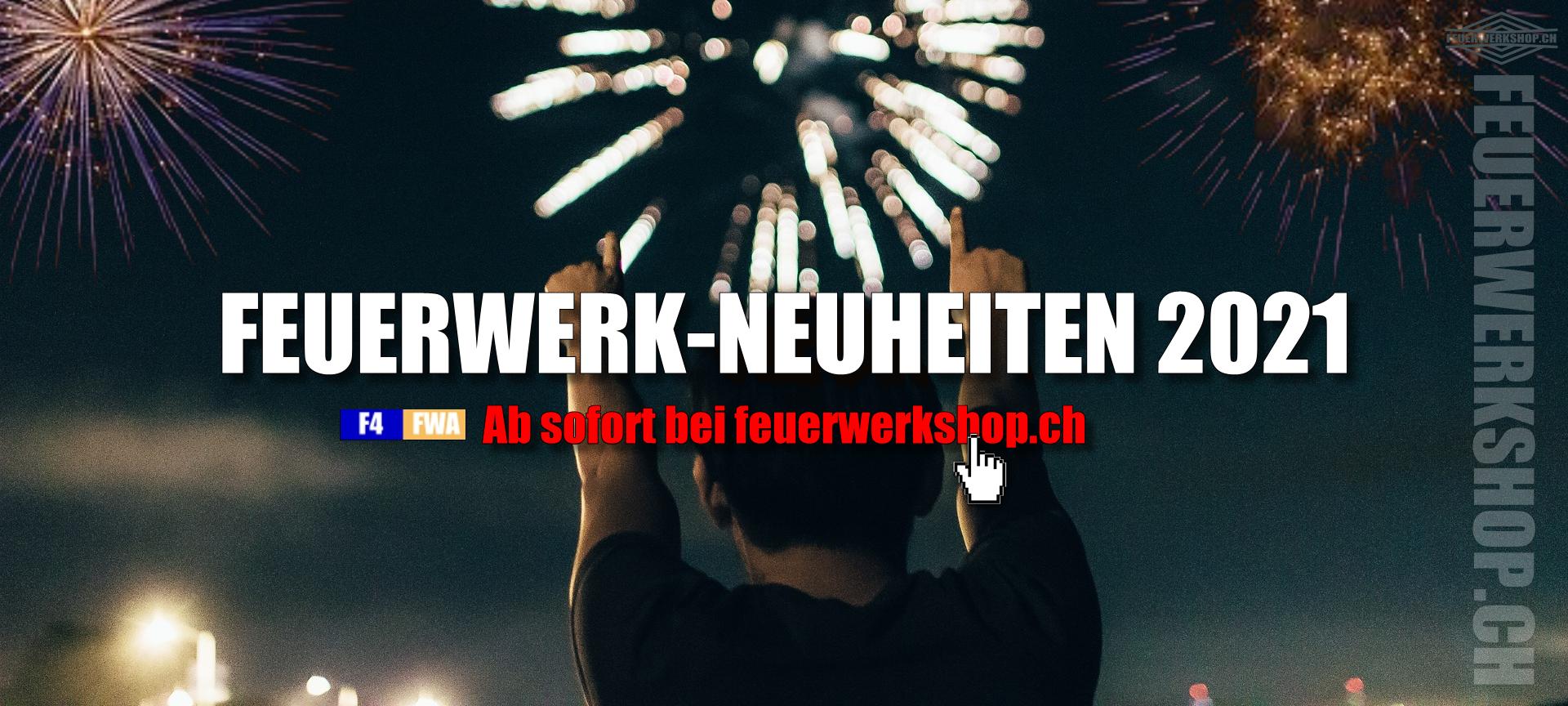 Feuerwerk Neuheiten 2021 - Jetzt entdecken bei feuerwerkshop.ch