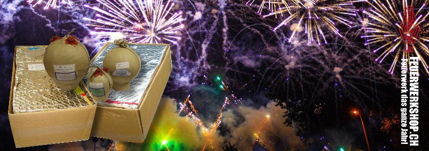 Grossfeuerwerk Schweiz - Kugelbomben und Showboxen kaufen