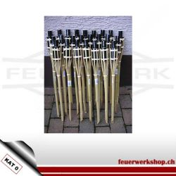 Bambus Gartenfackeln