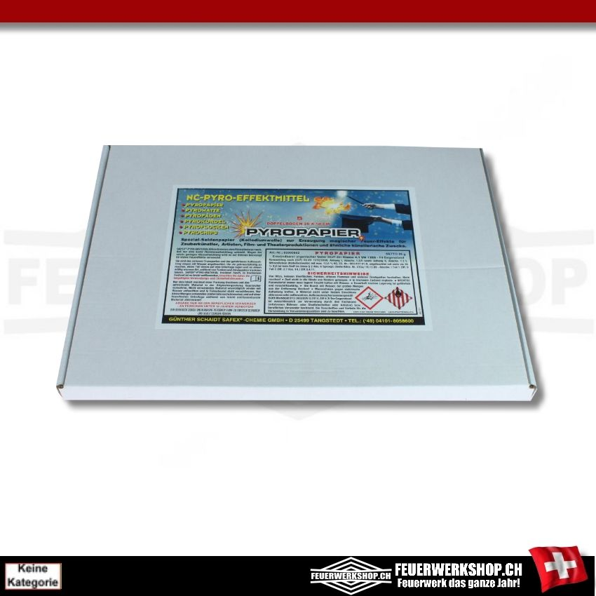 Pyropapier weiss, 20x50cm 5 Blätter von Safex