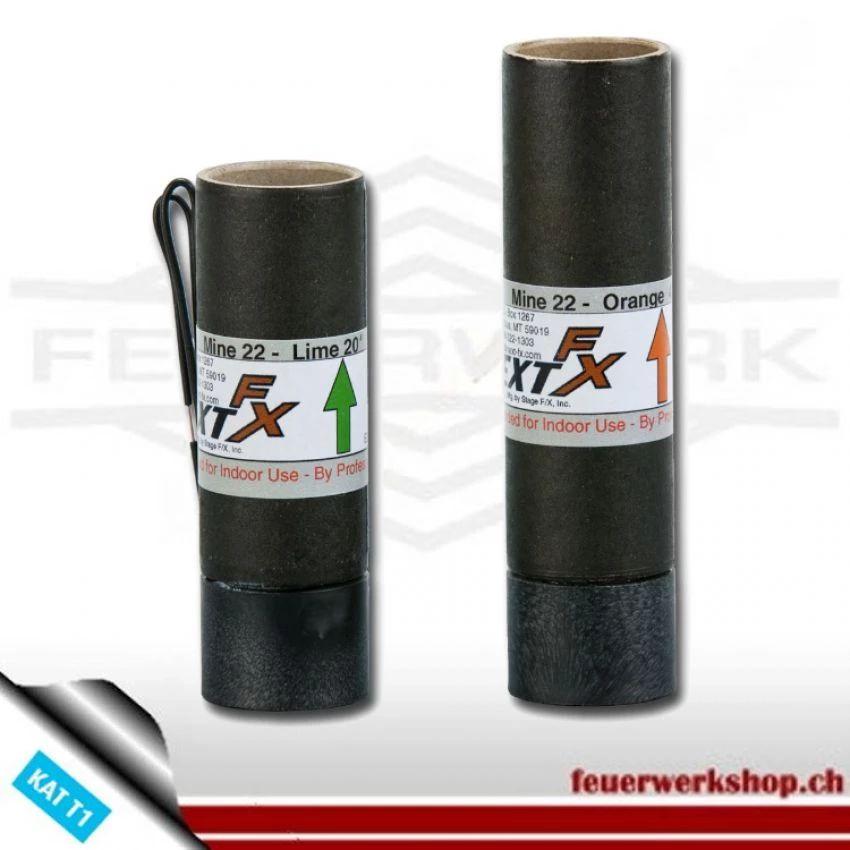 Feuertöpfe grün 6m (Pyrotechnik Bühne)