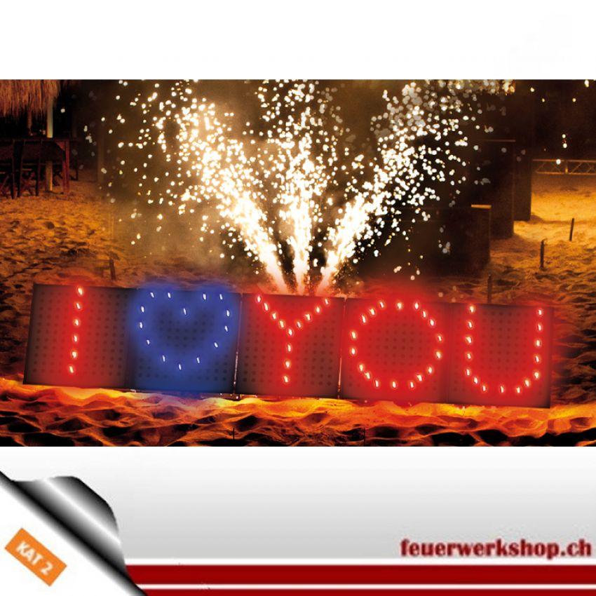 Premium Linie Feuerschrift *I love You*
