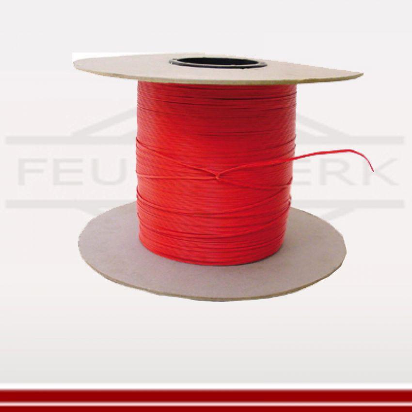 Elektrodraht rot 2adrig für Zündanlagen