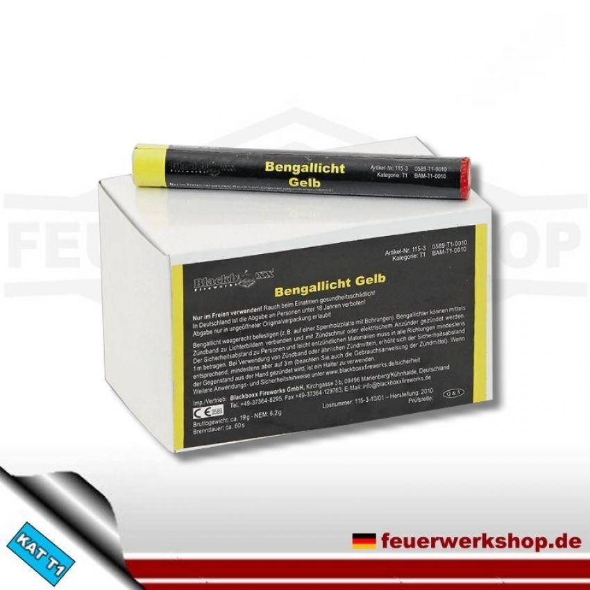 Blackboxx Figurenlichter /Bengallicht) gelb