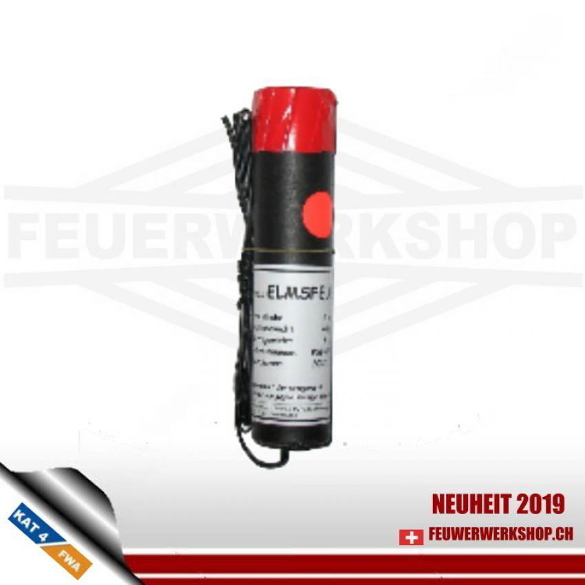 ELMSFEUER Photoflash rot mit elektrischem Anzünder