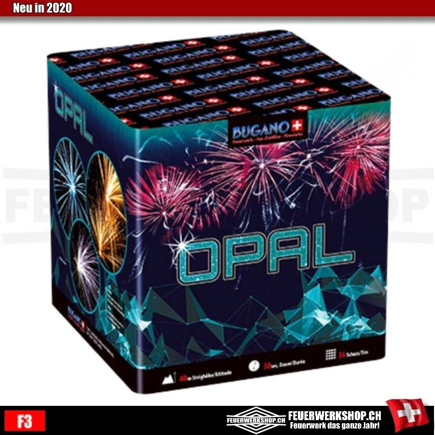 36 Schuss Feuerwerkskörper *Opal* von Bugano
