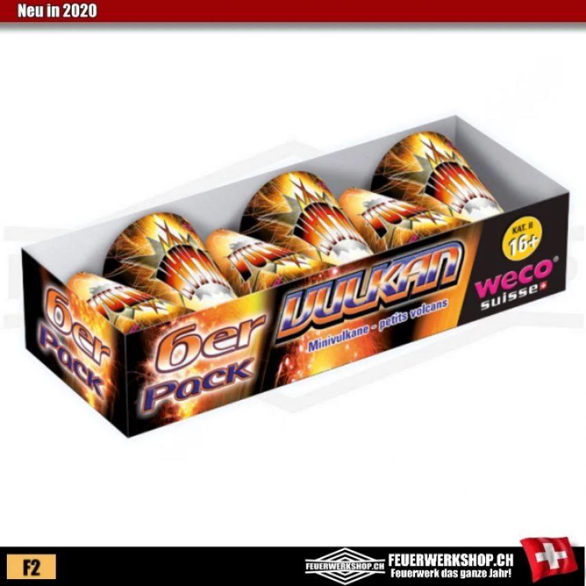 Vulkan 6er Set von Weco Feuerwerk