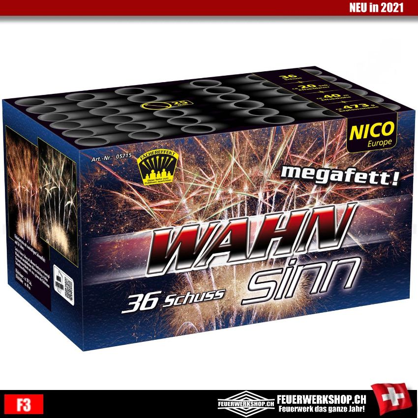 Feuerwerk *WAHNsinn* - 36 Schuss