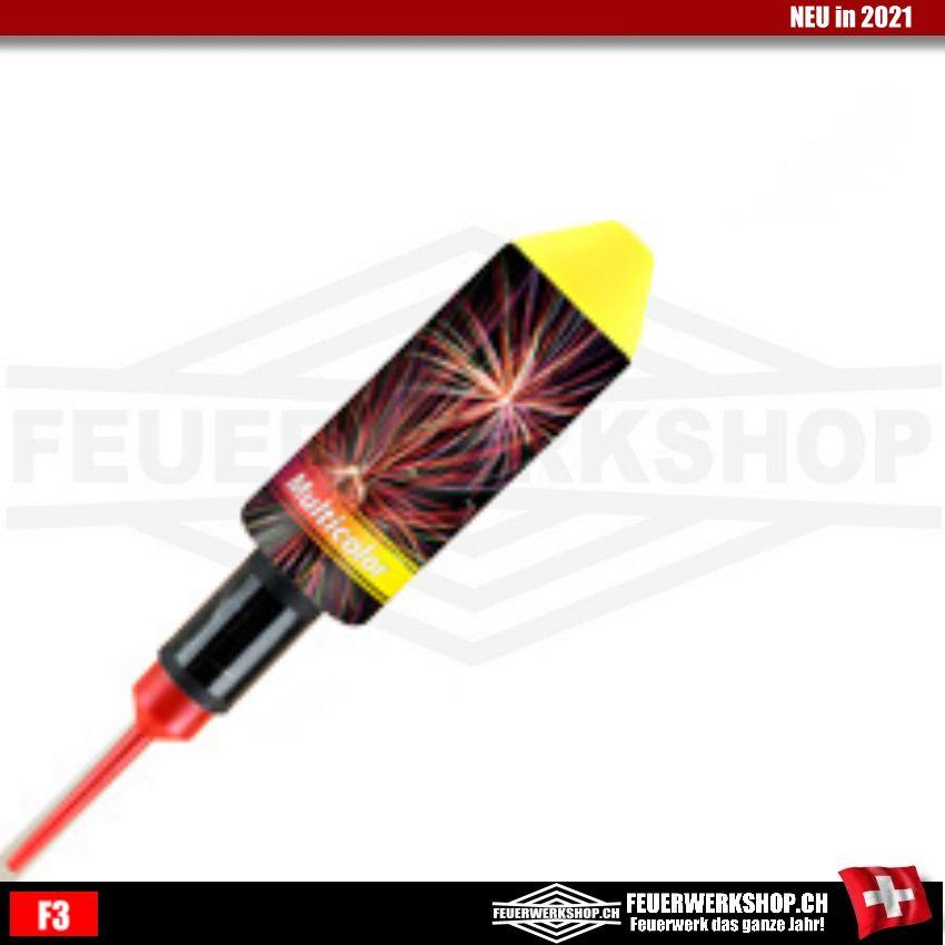 Multicolor Feuerwerk Rakete von Zink