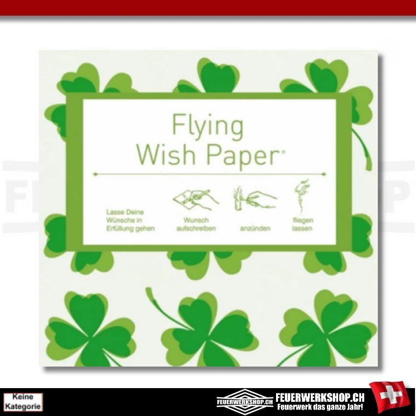 Flying Wish Paper - Motiv Glück - Kleeblätter