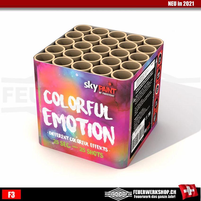 Feuerwerk *Colorful Emotion* mit 25 Schuss