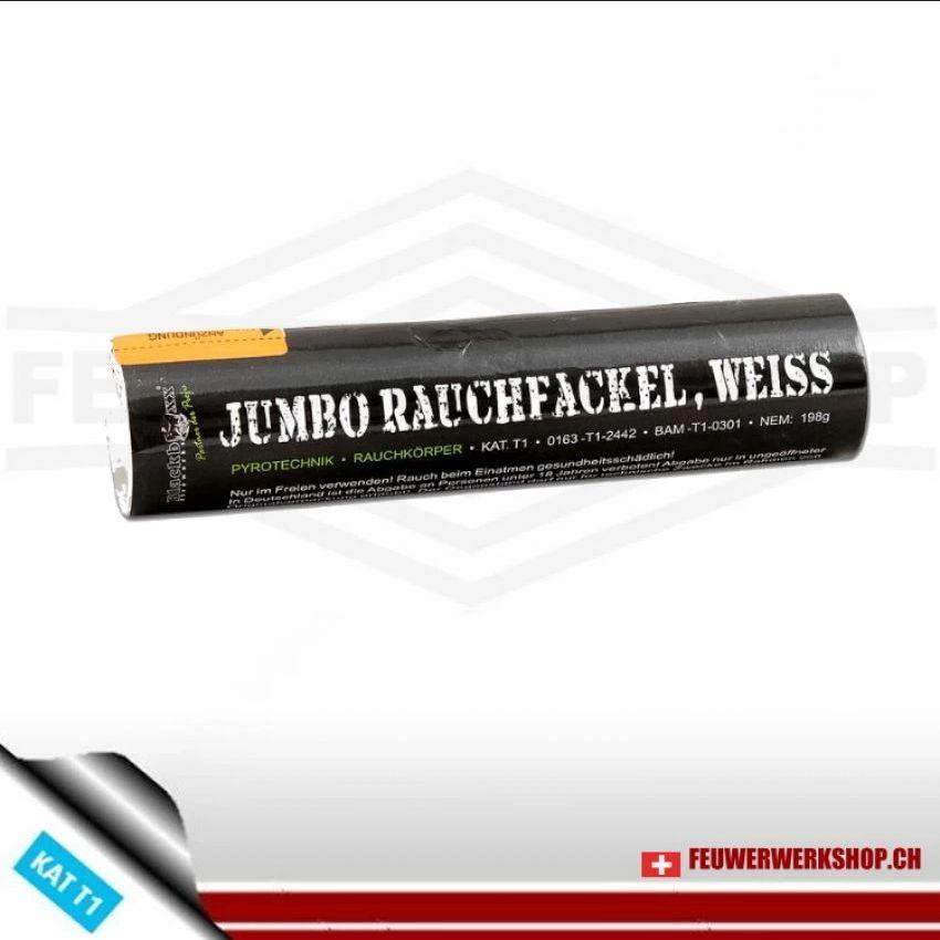 Rauchfackel Jumbo - weiss