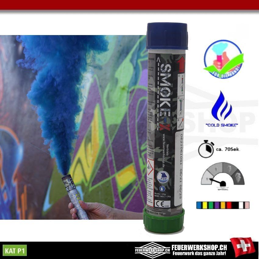 Rauchfackeln Schweiz - SMOKE-X SX-4 blau