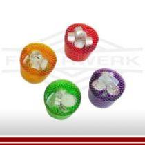 Leuchtbecher mit Kerzenlicht in verschiedenen Farben