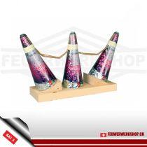 3er Vulkanfächer *Metal Pink*
