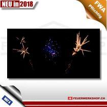 Feuerwerk W Shape Brocade Blue Brocade