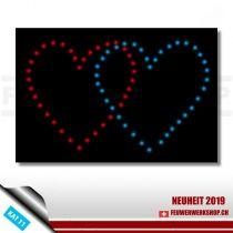 Lichterbild Bastelset 2 Herzen