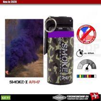 *Army* Rauchbombe mit Kipphebel - Lila Rauch von SMOKE-X
