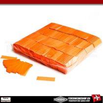 Leuchtkonfetti Orange - Slowfall - Leuchteffekt unter UV Licht