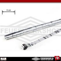 Metallic Luftschlangen breit - 5cm x 20 Mtr. - Silber