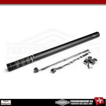 Metallic Luftschlangen Shooter 80cm - Silber
