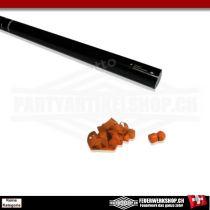 Luftschlangen Party Schooter mit orange Papierstreamern - 80cm