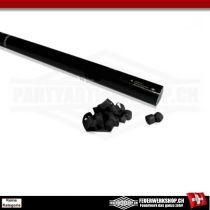 Luftschlangen Partykanone mit schwarzen Papierstreamern - 80cm