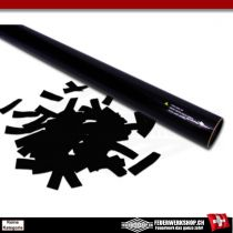Konfettischooter mit Papierkonfettifüllung - 80cm - Schwarz