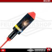 Feuerwerk Rakete Blau Gold von Zink