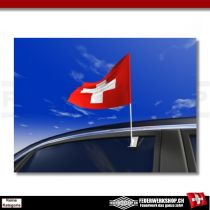 Autofahne zum anstecken ans Autofenster - Autoflagge Schweiz