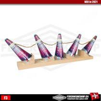 Zuckerstöcke - Vulkanfächer 5er Metal Pink