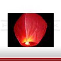 Himmelslaterne in rot inkl. Brennkörper
