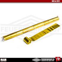 Metallic Luftschlangen Gold (Streamer) - breite Ausführung 5cm x 20 Mtr.