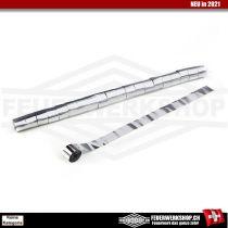 Metallic Luftschlangen Silber (Streamer) - breite Ausführung 5cm x 20 Mtr.